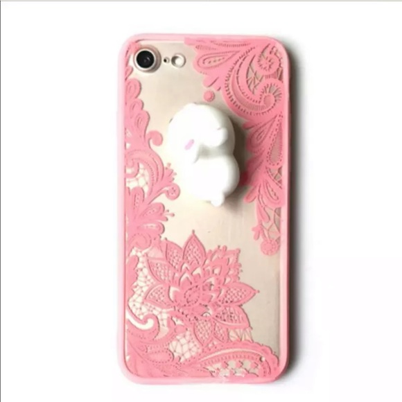 100% authentic 6e581 41212 🆕 iPhone Case Squishy Bunny Pink Lace Boutique